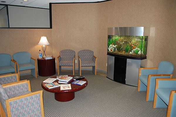 Patient waiting area at Terrence C. O'Keefe, DDS in Houston